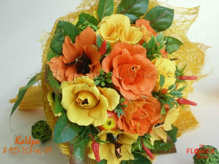 Цветы на 1 сентября из бумаги