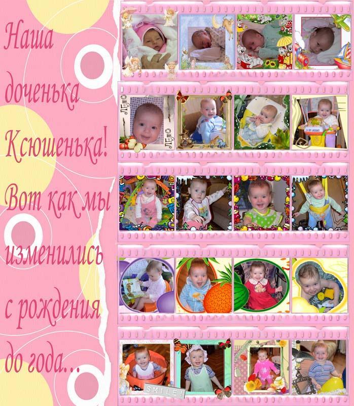 Поздравление на 1 годик девочке ксюше