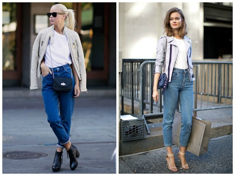 Что одевать с джинсами бананами