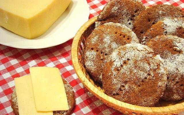 Ржаные печенье без дрожжей