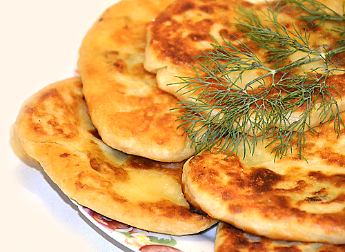Лепешки постные с начинкой на сковороде рецепт