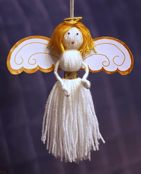 Ангелы из ниток своими руками фото