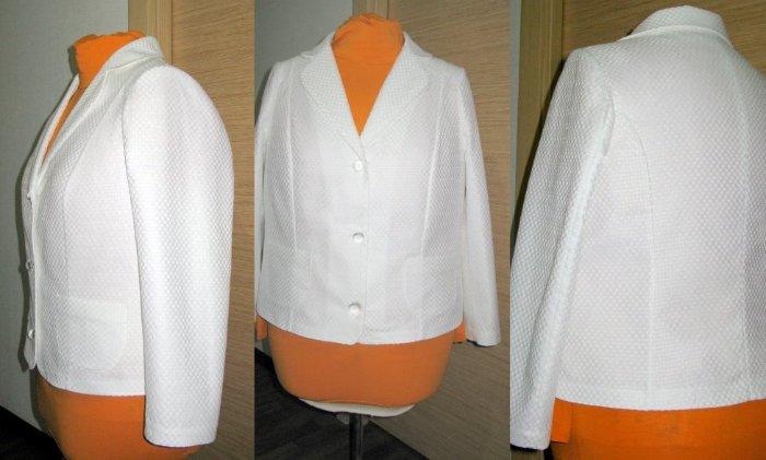 Белый пиджак женский сшить