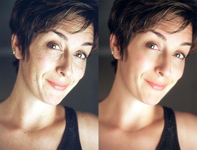 Как в фотошопе сделать красивый цвет лица видео
