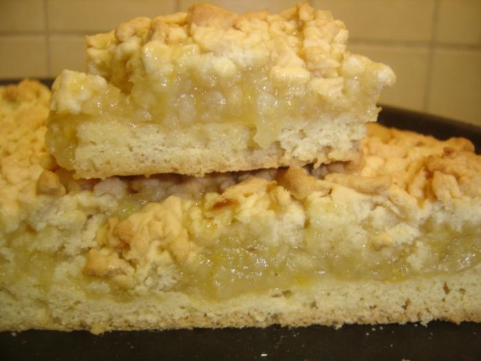 Пирог с лимонной начинкой с