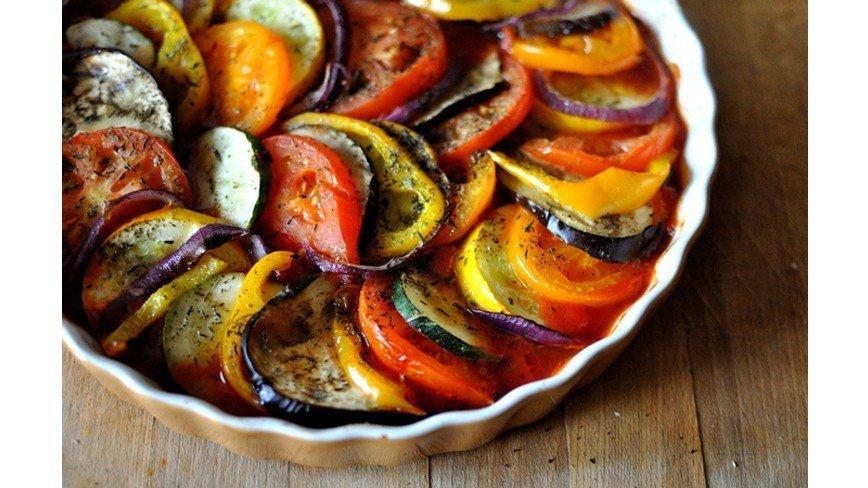 Овощи запеченные в духовке рецепт с фото пошагово с мясом