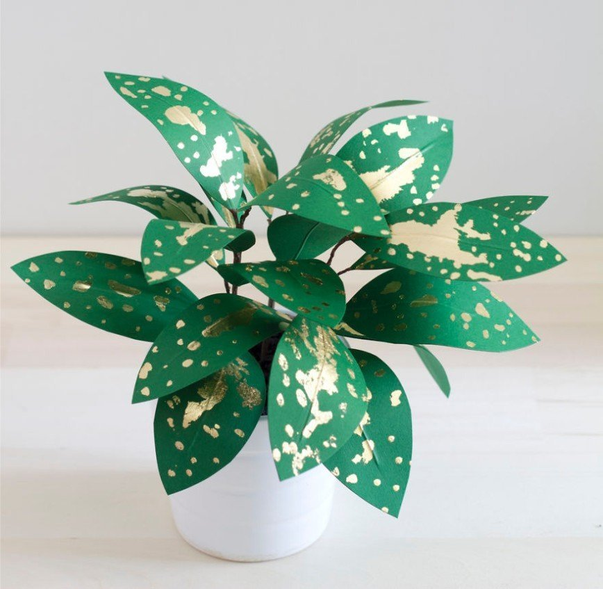 Растения из бумаги