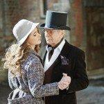 85-летний актер Иван Краско и его молодая жена снялись в ретро-фотосессии