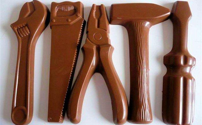 Шоколадные инструменты своими руками 4