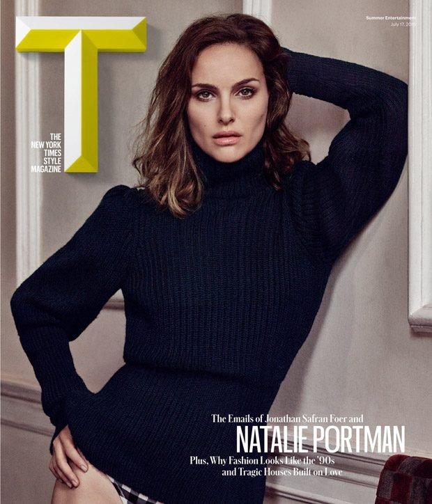 Натали Портман на обложке T Magazine