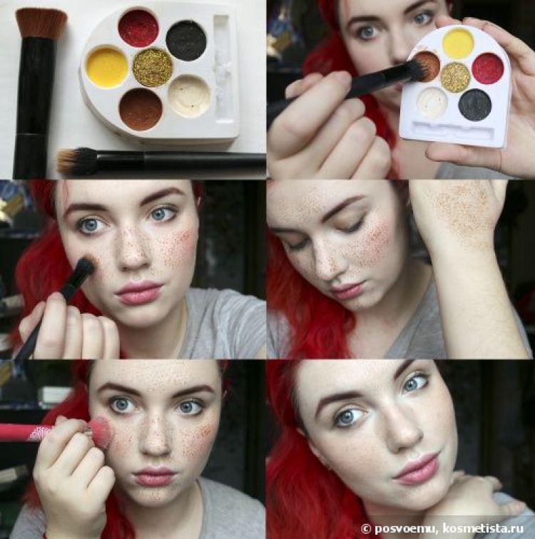 Как сделать макияж на веснушки 290