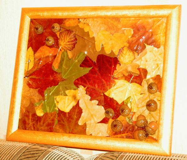 Поделки из листьев в рамки - Вязаные мелочи, поделки Записи в рубрике вязаные мелочи
