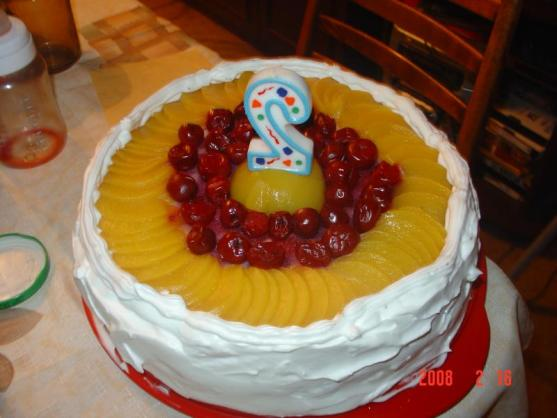 Фруктовый торт с готовыми коржами