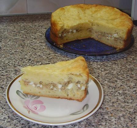 Рецепт пирога из кефира и сайры