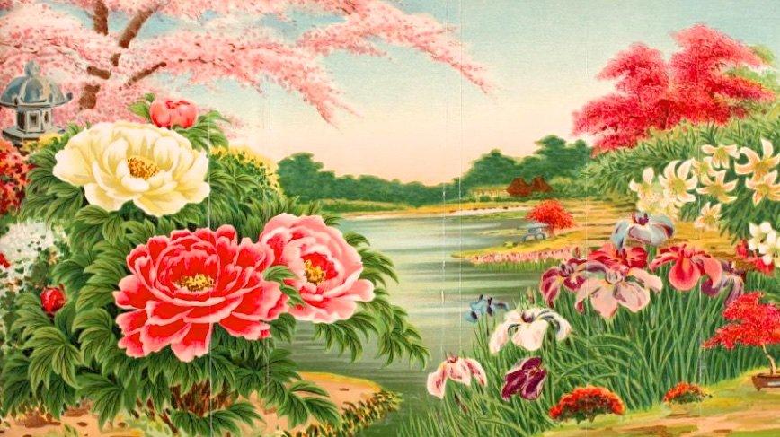 Старинный каталог цветов