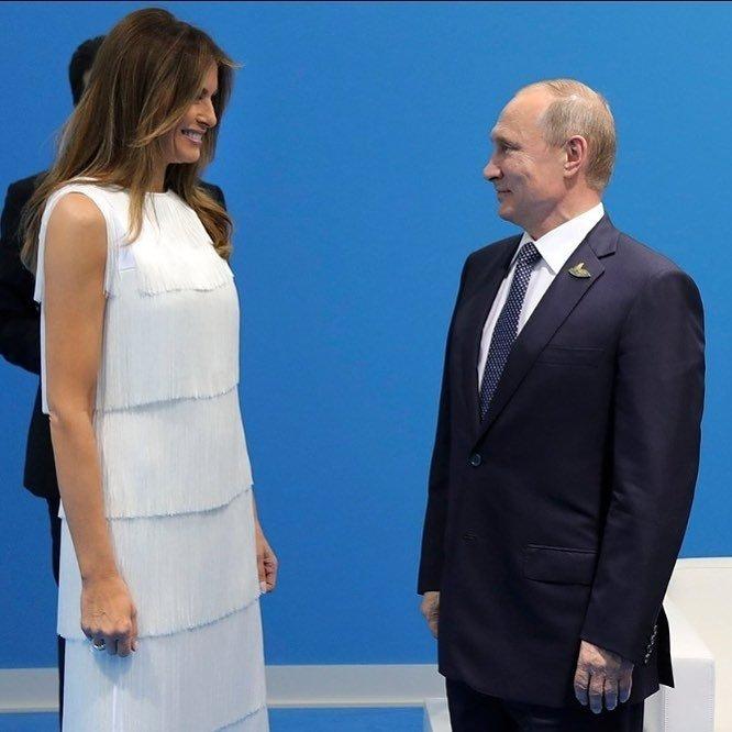 Мелания Трамп даже на мужа так не смотрит, как на Владимира Путина