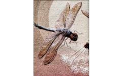 Флора и фауна на картинах из ткани. Вышивка 3D