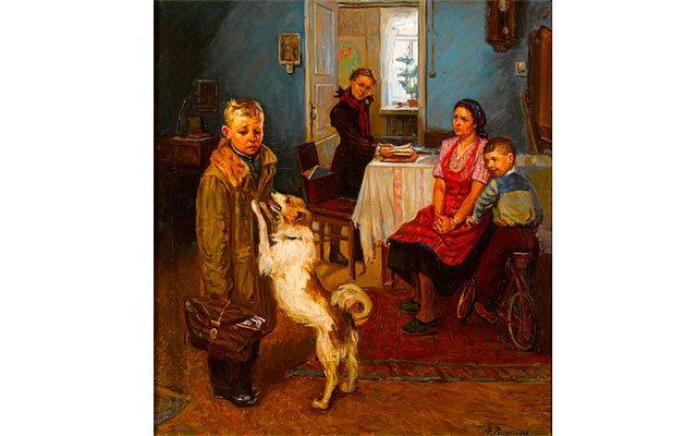 Обнаружена начальная версия картины «Опять двойка»