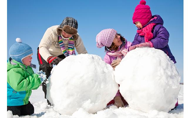 Фото детей зимой картинки