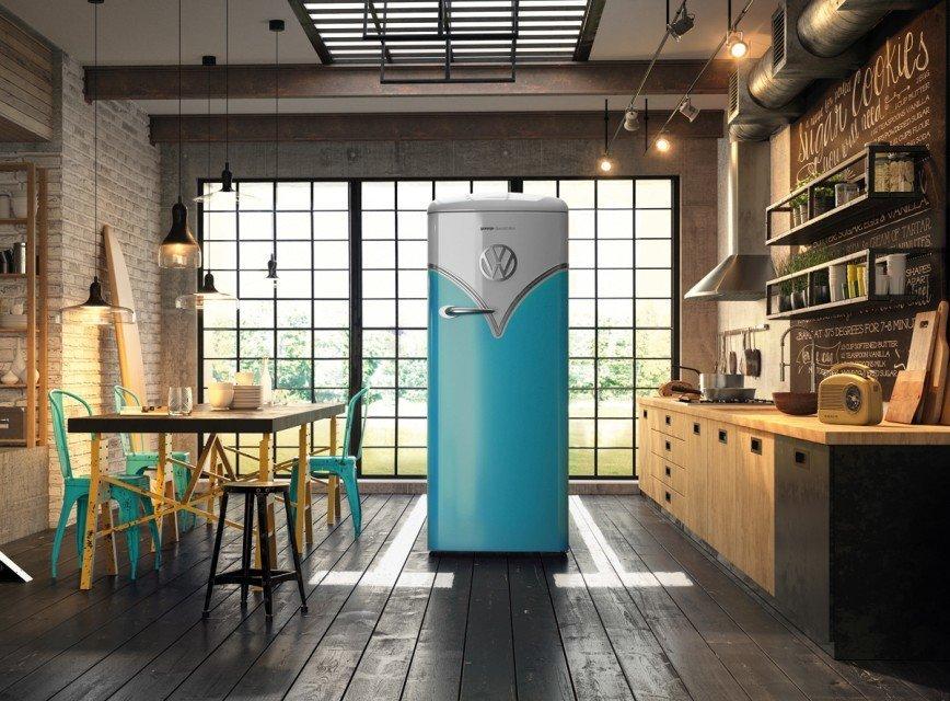 Эксклюзивная серия холодильников с дизайном, повторяющим черты автомобиля VW Bulli T1
