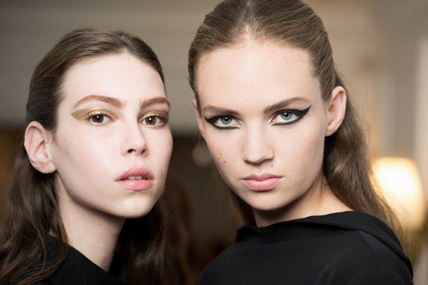 Макияж моделей на показе Dior Haute-Couture Осень-Зима 2016-2017