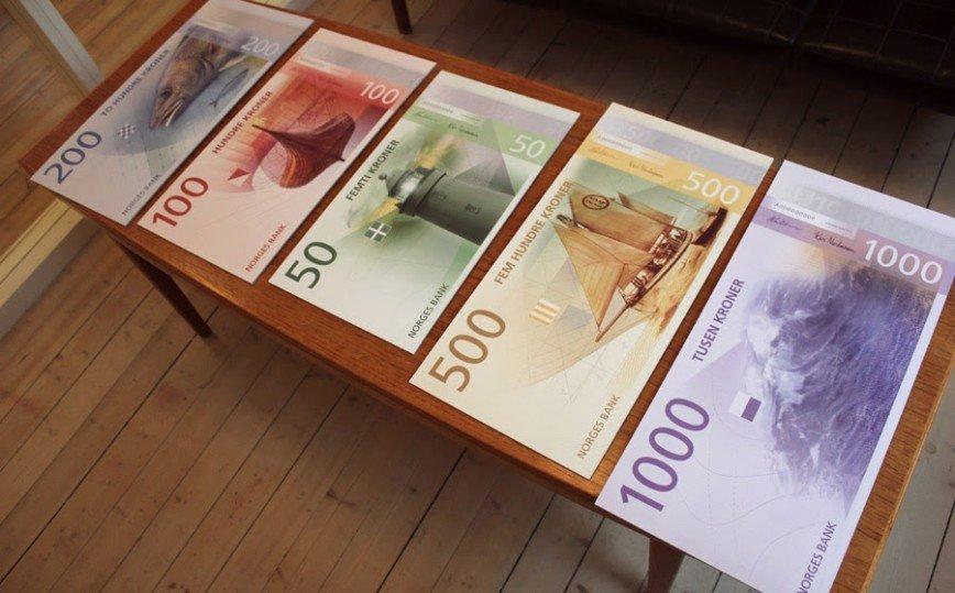 Новые банкноты Норвегии названы самыми красивыми в мире