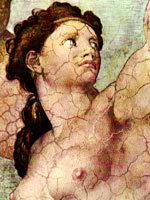 Микельанджело - Падение и изгнание из рая. Источник www.christusrex.org/www1/ sistine/6-Genesis.html