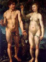Хендрик Голциус - Адам и Ева. Источник: www.hermitage.ru