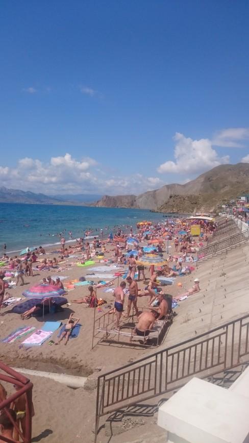 Пустые пляжи Крыма :)