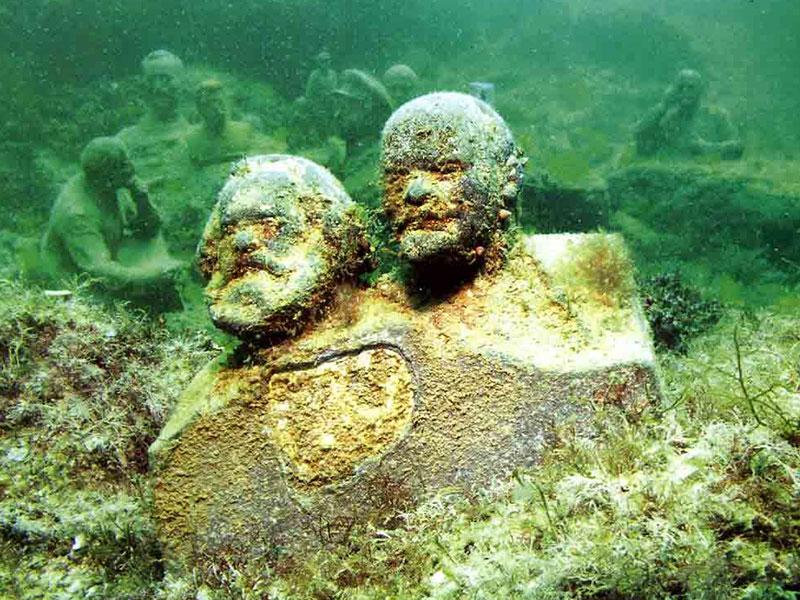 Подводный музей Аллея вождей в Крыму