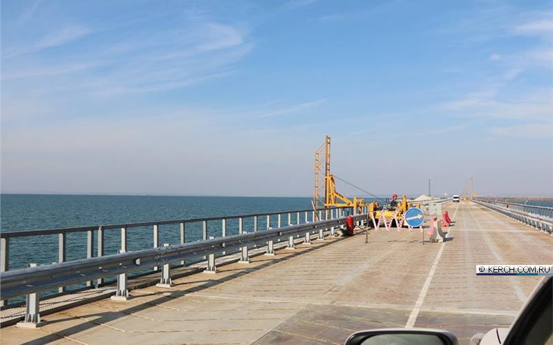 Крым. Строительство Керченского моста.