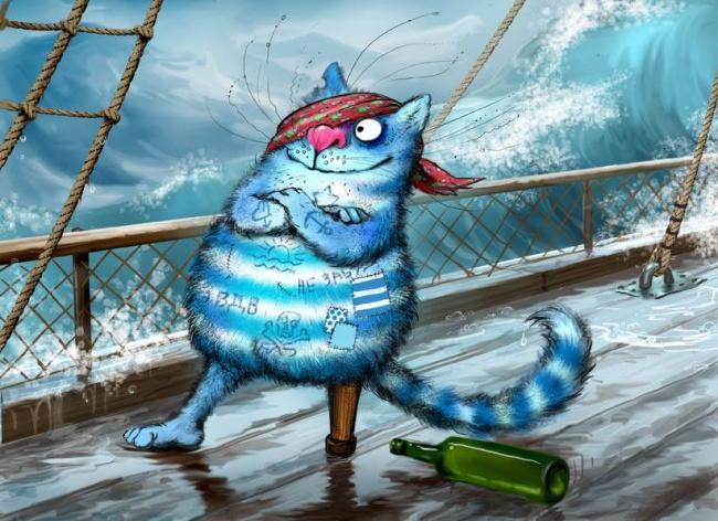 Мир синих котов, наполненный приключениями