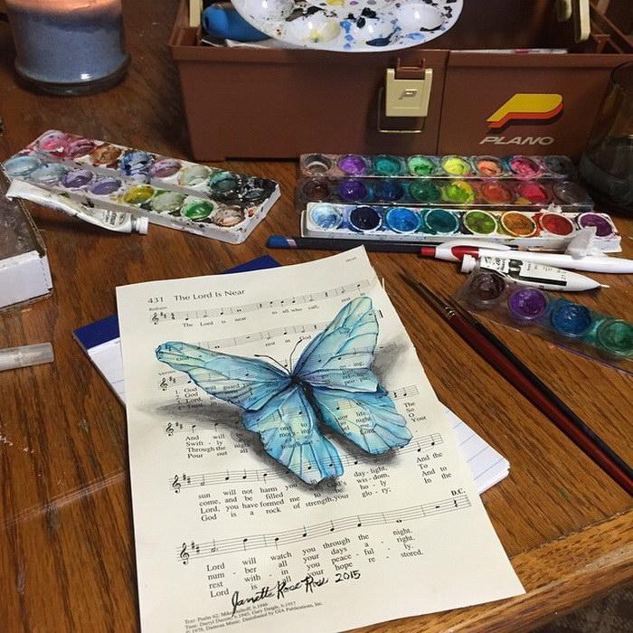 Бабочки, музыка и опавшие листья