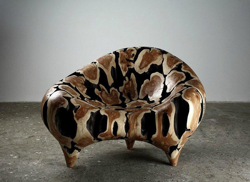 Потрясающие скульптуры и мебель из деревянных отходов