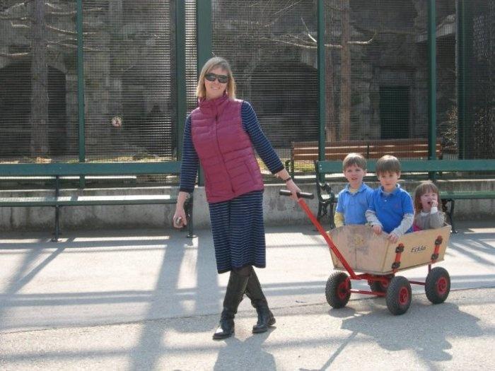 в Вене старейший в мире зоопарк, мимо которого, конечно же, мы не могли пройти :) По зоопарку детей можно возить вот в таких тележках