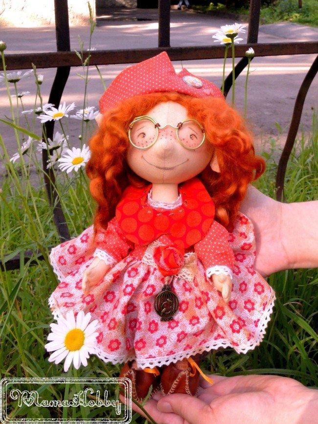 Автор: mamahobby, Фотозал: Мое хобби, Гном по выкройке Ирины Гуськовой. Больше фото здесь: http://iya-mamahobby.blogspot.ru/2017/08/pretty-gnome-textile-doll.html