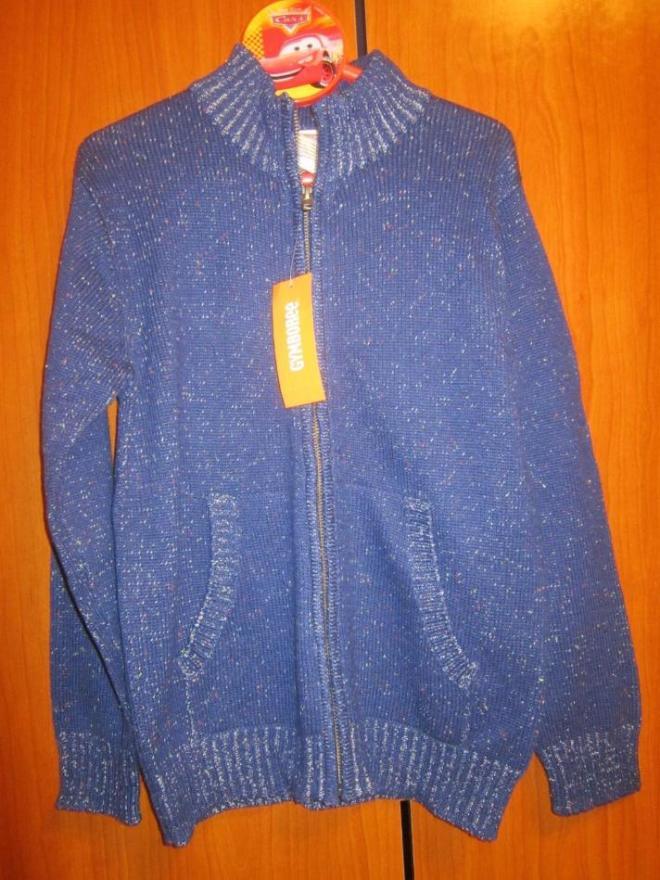 Новый синий джемпер GYMBOREE, размер M(7-8 лет), цена 800 руб.
