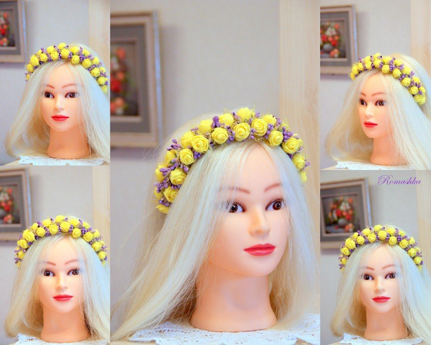 "Автор: Marina_79, Фотозал: Мое хобби, Ободок-венок ""Девушка-Весна"" ждет свою хозяйку."