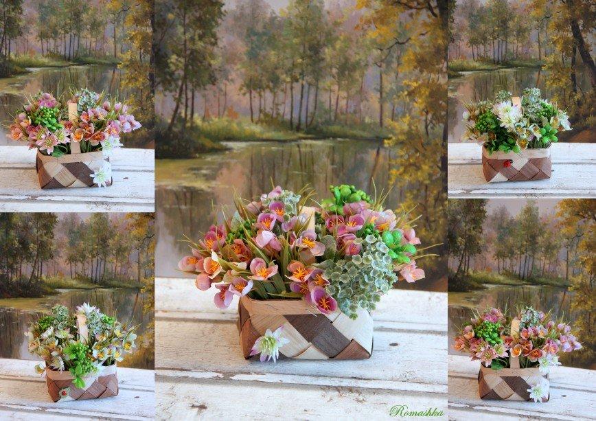 """Автор: Marina_79, Фотозал: Мое хобби, """"Лукошко с первоцветами"""" ждет свою хозяйку."""