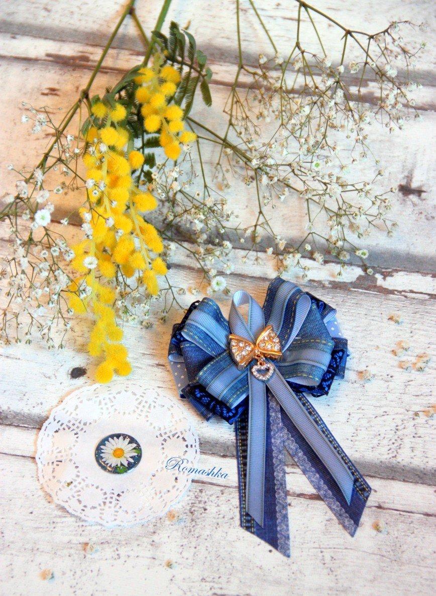 """Автор: Marina_79, Фотозал: Мое хобби, Брошь-галстук """"В стиле джинс"""" ждет свою хозяйку"""