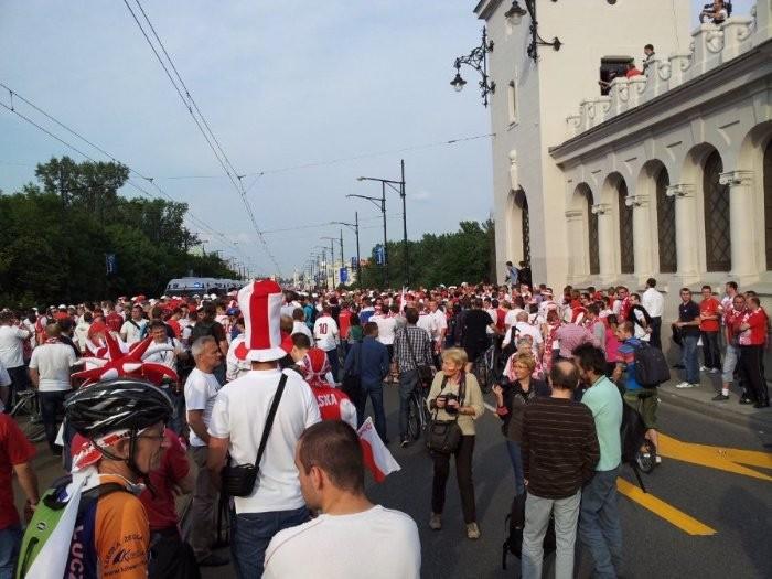 на пути к стадиону в Варшаве