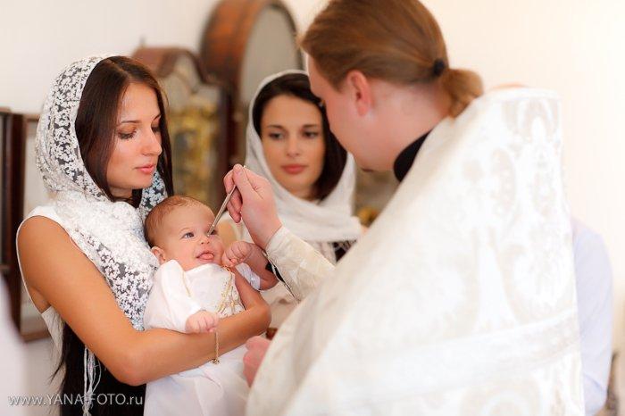 Крещение детей фото
