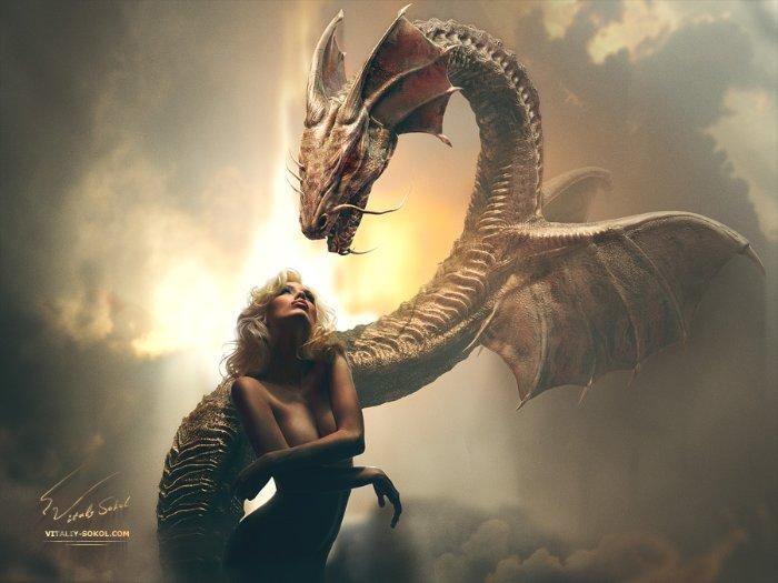3д фото драконов