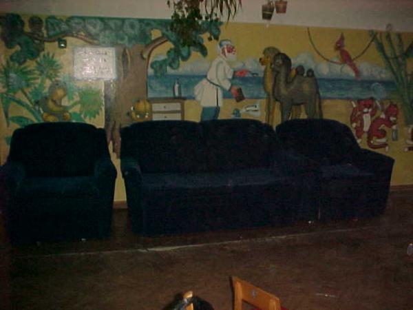 Новая мебель синяя в холле