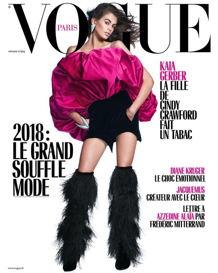 «Звездный час!»: Кайя Гербер впервые снялась для  обложки Vogue