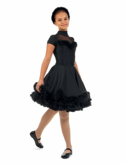 Карнавальный костюм для девочек PSHK041103 3220 руб Размер 8  Цвет Черный Комплект одежды для девочек (юбка,подъюбник,боди,ободок) Цена 3220р