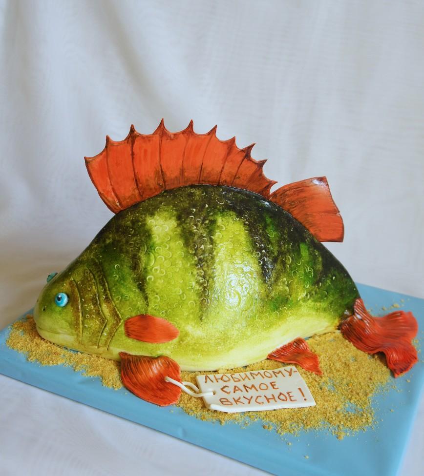 луки торт с картинкой рыбы многие