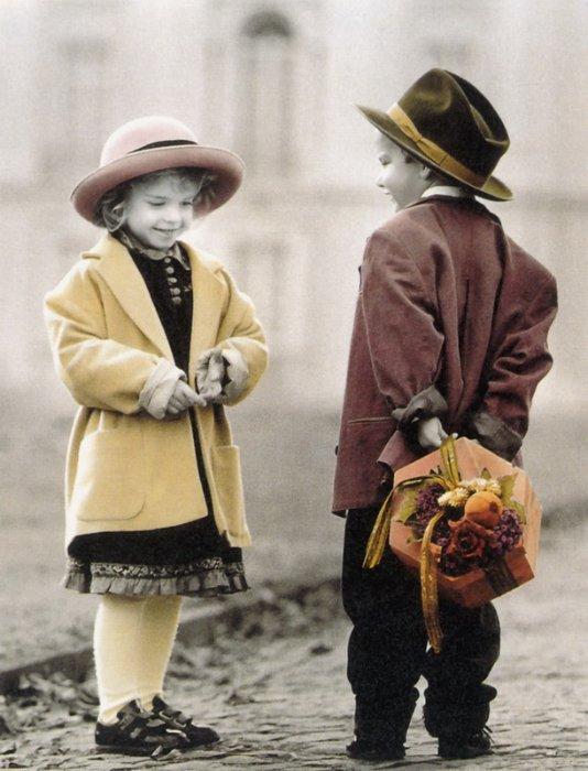 фото в стиле ретро детей