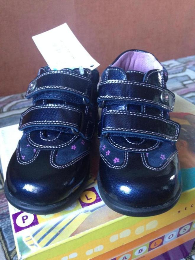НОВЫЕ ботиночки PABLOSKY 24рр по стельке 15см, кожа на коже, очень красивые, стразики-цветочки 2400р