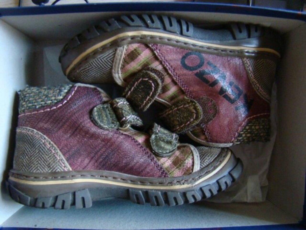 Kenzo ботинки цветные р.25 нат.кожа в коробке - 1600